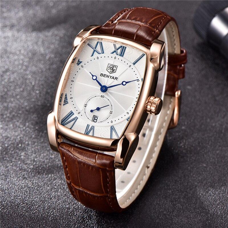 Image 2 - BENYAR мужские часы Топ Бренд роскошные золотые военные мужские наручные часы спортивные Бизнес Мужские часы водонепроницаемые Relogio Masculino 5114-in Кварцевые часы from Ручные часы on AliExpress - 11.11_Double 11_Singles' Day