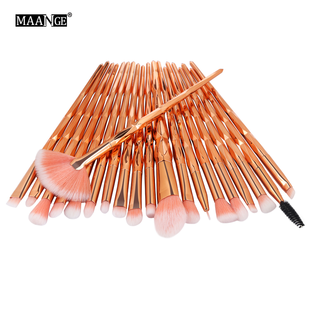 Pro 5-20Pcs Diamond Makeup Brushes Set Fan Powder Foundation Blush Eye shadow Lip Cosmetic Beautiful Make Up Brush Tools