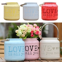 Love Is All You Need Candle Bottle Vase Iron Hollow LOVE Home Wedding Decoration Accessories Y13