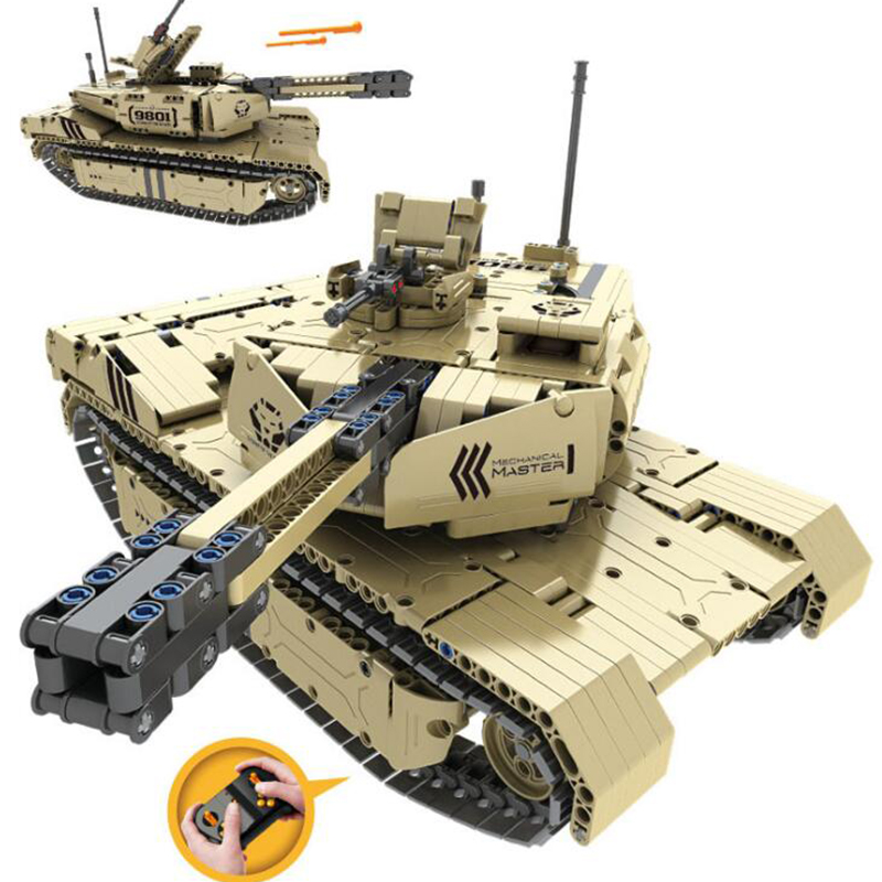 Military War Series m1a2 RC tank building blocks - military assembled building blocks toys remote control tank model toy enlighten building blocks navy frigate ship assembling building blocks military series blocks girls