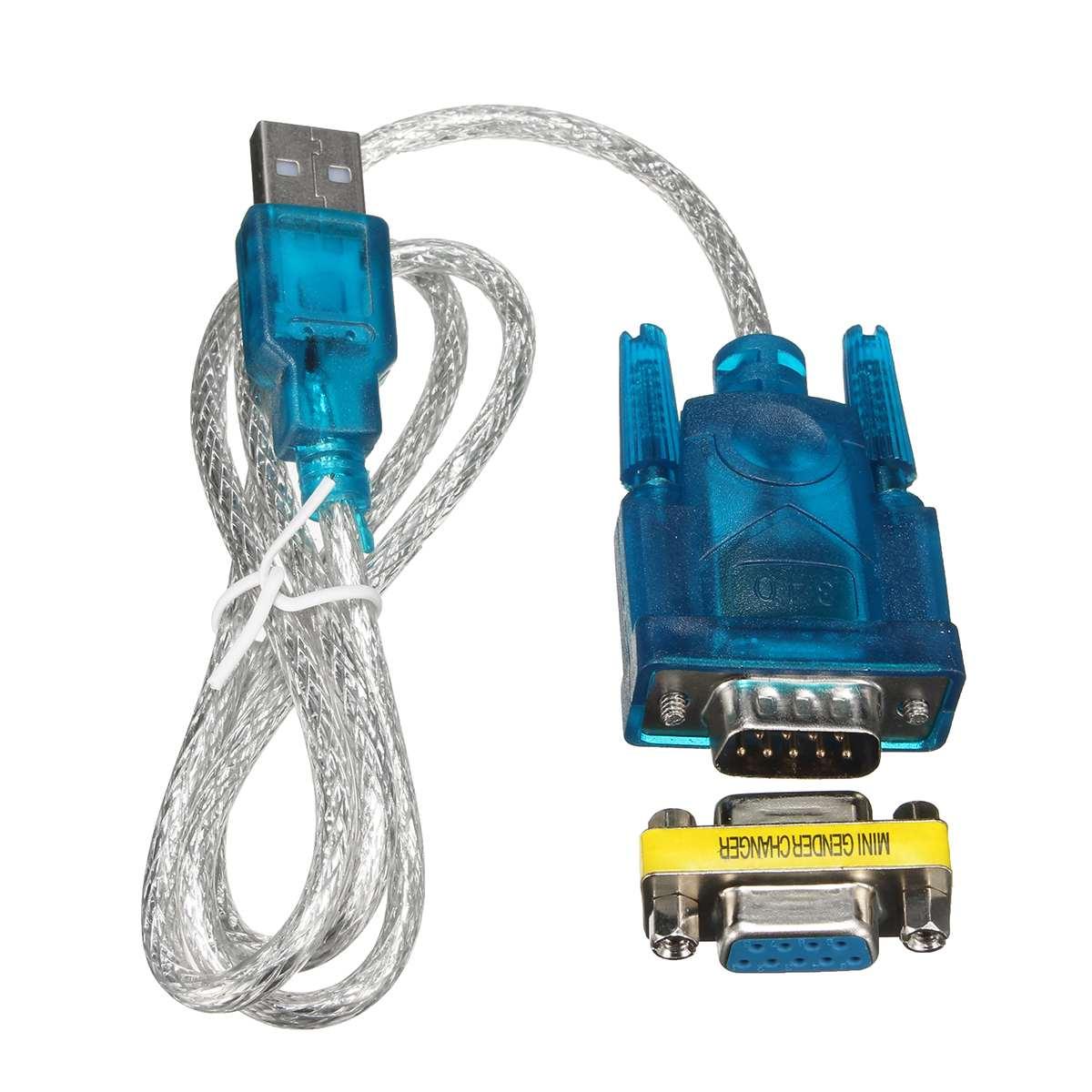 USB Vers RS232 Port Série 9 Broches DB9 Câble Série COM Port Adaptateur Convertisseur Avec Adaptateur Femelle Prend En Charge Pour Windows 8 Pas De CD