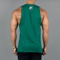 c3c3e92ab4d383 High Quality Mens Tank Top 2018 New Gyms Fitness bodybuilding Workout  Crossfit Brand Clothing Cotton Sleeveless Shirt Jogger Print Sling Vest