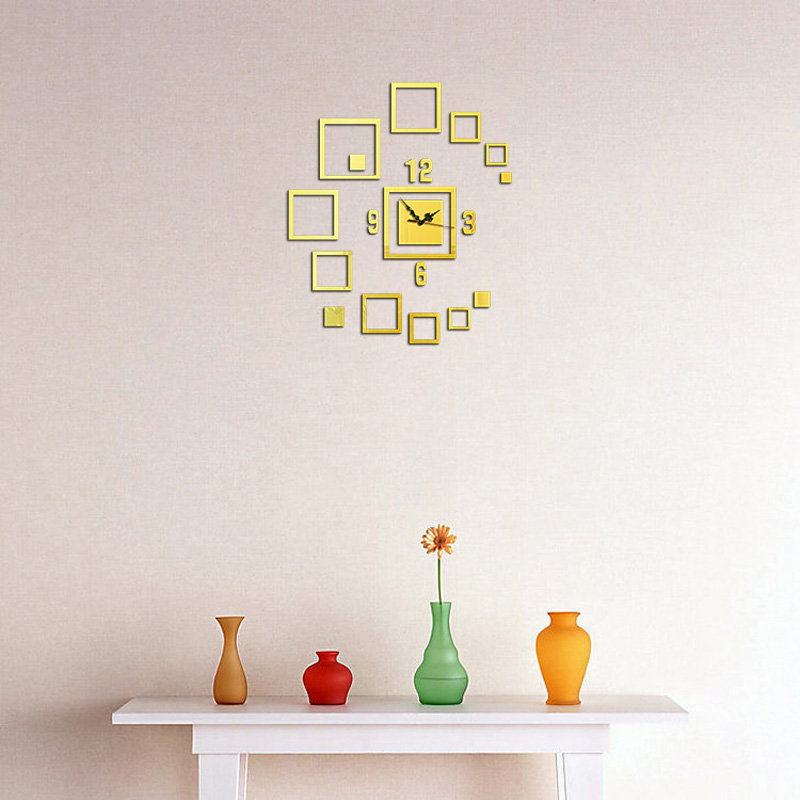 3D Acrylic Wall Clock Mirror Wall Sticker