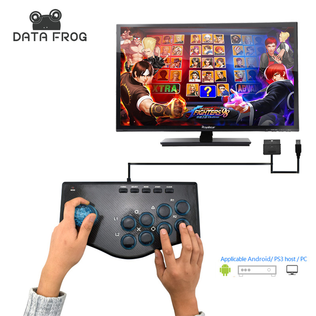 Data Frog Arcade Joystick USB Game Joysticks For PC Compatible For  Android/PS3 Console Plug And Play Controller Free Shipping-in Joysticks  from