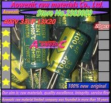 20 قطع 400 فولت 33 فائق التوهج aoweziic 13x20 مقاومة عالية التردد المنخفض كهربائيا مكثف 33 فائق التوهج 400 فولت 13*20