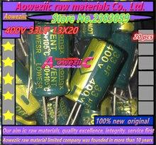Aoweziic 20 pièces 400 V 33 UF 13X20 haute résistance à haute fréquence condensateur électrolytique 33 UF 400 V 13*20