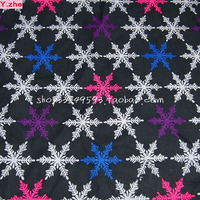 Tecido 100% Tecido de Algodão Colorido de natal Snow Flower Impresso Diy Material de Tecido Patchwork Costura As Mulheres Se Vestem Roupas