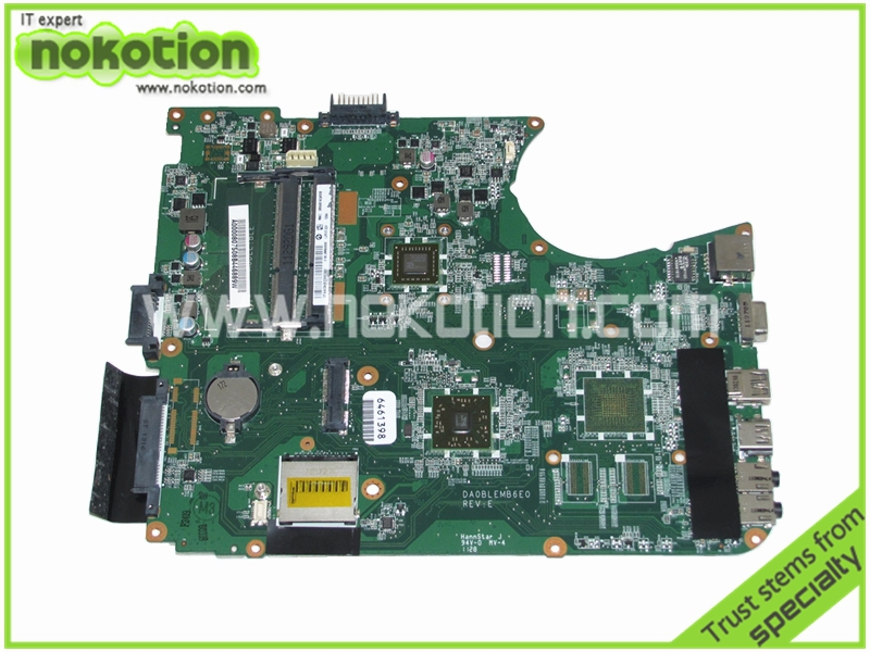 NOKOTION A000080750 Laptop motherboard for Toshiba Satellite L750 L750D L755 DA0BLEMB6E0 E350 DDR3 ALL in one REV E Mainboard nokotion for toshiba satellite c850d c855d laptop motherboard hd 7520g ddr3 mainboard 1310a2492002 sps v000275280