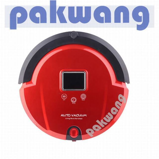 Large LCD display 4 in 1 mutifunctional cleaning robot ( vacuum, mop, sterilize) Self Recharge, Virtual Wall, Remote Control UV.
