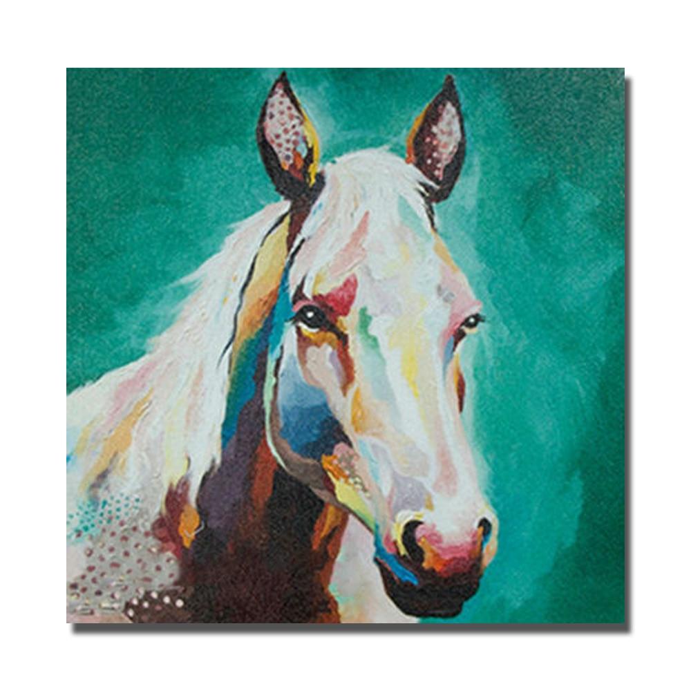 ⃝Cabeza de caballo guapo pintura al óleo sobre lienzo grandes ...