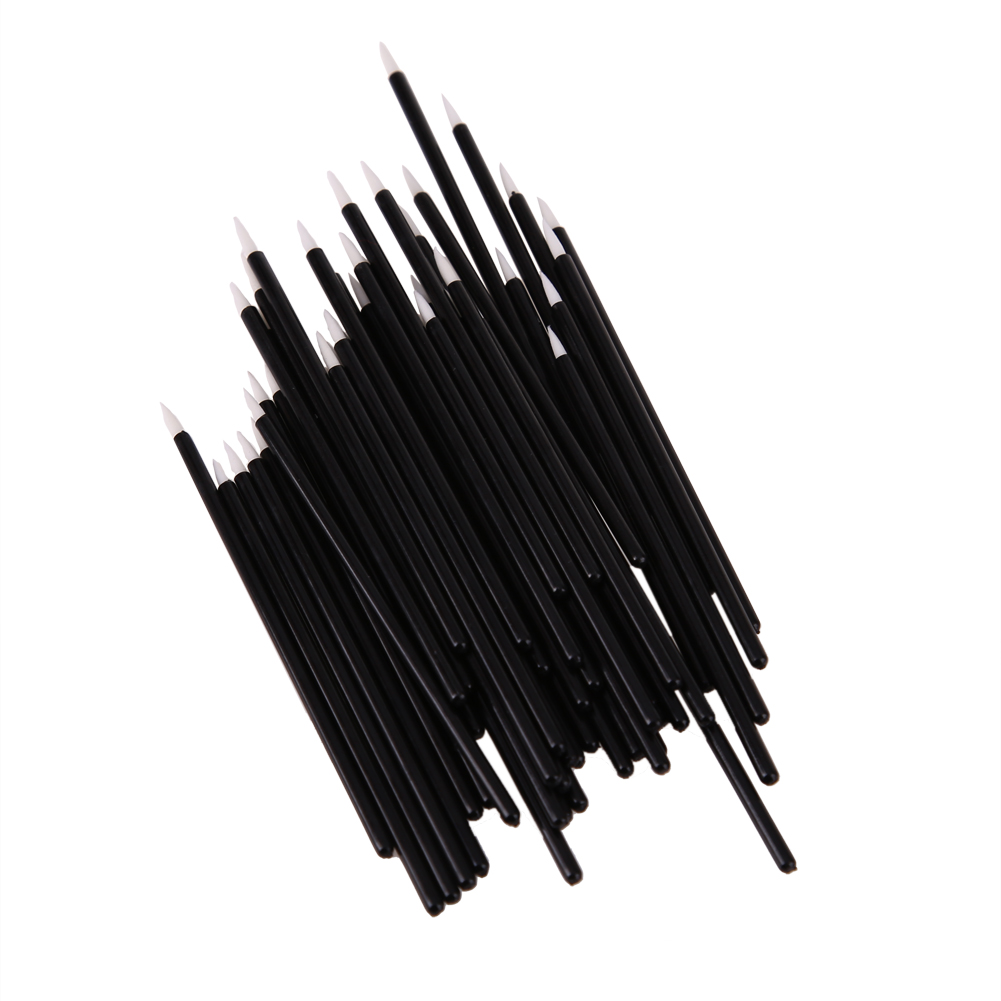 2017 New Arrival 50Pcs Disposable Eyeliner Eye Lip Liner Liquid Wand Applicator Brush Cosmetic Make up Brushes Tool Best Deal new cosmetic waterproof eye liner pencil make up black liquid eyeliner shadow gel makeup eyeliner cosmetic brush black