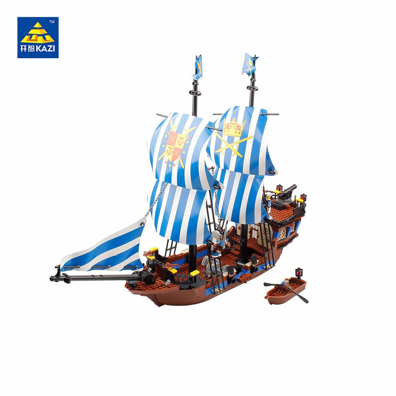 KAZI 87011 Pirates Armada Flagship Blocks 608pcs Bricks Building Blocks Sets Education Toys For Children Compatible Lepin kazi building blocks k87011 608pcs pirates black pearl model building kits model toy bricks toys hobbies blocks