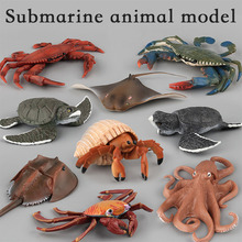 Simulation Marine Biological Model Octopus Turtles Crabs Hermit Crab Animals Sea Decoration