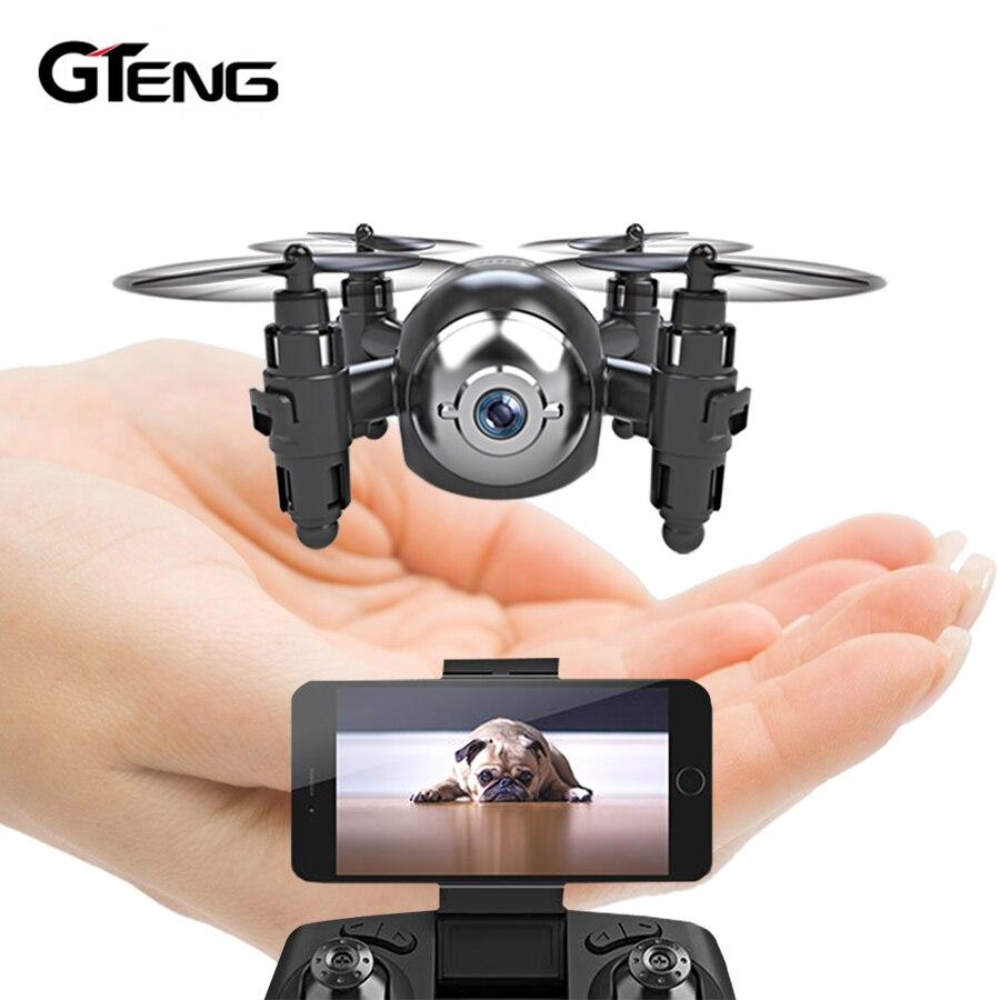 Gteng T906W FPV mini drone con cámara hd quadcopter rc helicóptero selfie drone juguetes de control remoto quadrocopter multicopter