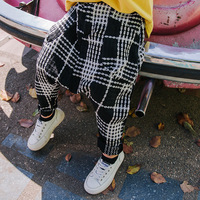 Children's wear 2018 autumn new children's plaid cotton trousers children's clothing boys pants trousers tide