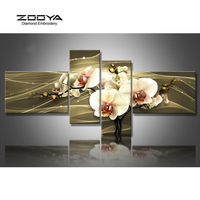 ZOOYA Diamond Embroidery 5D DIY Diamond Painting 4PCS Calla Flower Diamond Painting Cross Stitch Rhinestone Mosaic