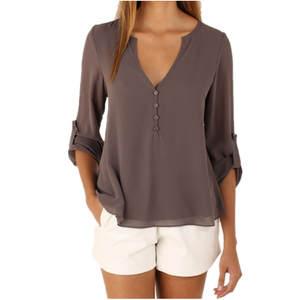 04f53c23673 2018 Tops Women 3 4 Sleeve Female Shirt Plus Size Feminina