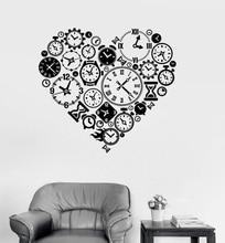 Vinil Duvar Çıkartması Saat Zaman Aşk Steampunk Odası Saatçi Art Sticker Çalışma Odası Yatak Odası Ev duvar süsü Duvar Sticker YD15
