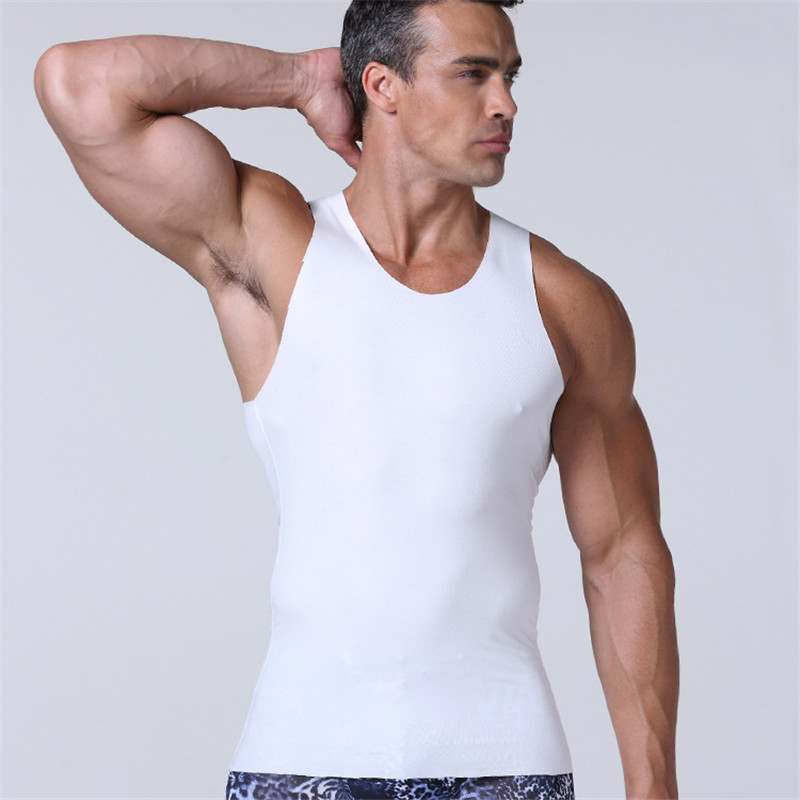 d81ab147 Summer Tank Top Men Seamless Casual Solid Tanktop For Male Fashion ...