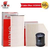 Linterna (filtro de aceite/filtro de aire/filtro de cabina) tres filtros adecuados para GREAT WALL HAVAL H2 1 5 T/H5 2.0L; envío gratis.