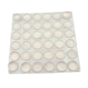 36 PCS 16 MM Door Stopper Dia 8 MM Thickness Silicon Rubber Kitchen Cabinet Self