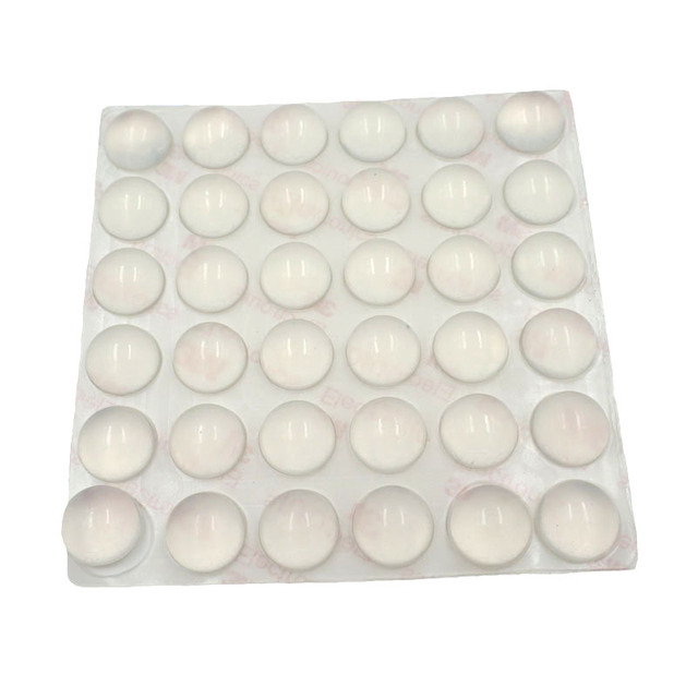 36pcs Door Stopper 16mm Dia 8mm Thickness Silicon Rubber Kitchen Cabinet Self Adhesive Damper Pad Furniture Hardware