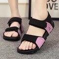 2016 Mujeres Del Gladiador Zapatos de las señoras Cuñas de Plataforma Hebilla Sandalias de Verano Sandalias Zapatos schoenen vrouw zapatillas gladiador