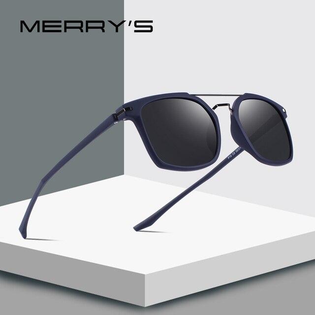 005a4dcf65e7 MERRY S DESIGN Men Classic Square Polarized Sunglasses Lighter Frame 100% UV  Protection S 8509