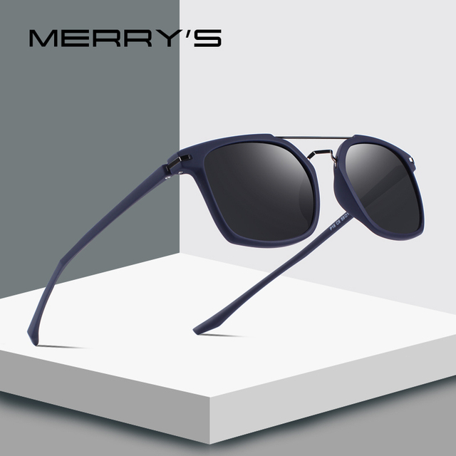 6f5ce40ccd MERRYS DESIGN Men Classic Square Polarized Sunglasses Lighter Frame 100% UV  Protection S8509