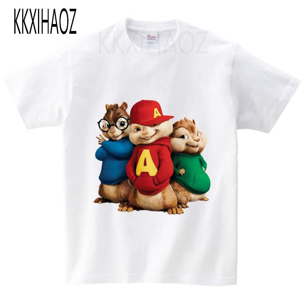 Alvin and the Chipmunks Alvin Print t-shirt kids tops Tee Comfortable t shirt boy girl Casual cartoon Short Sleeve TEE camiseta 3