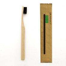 1 шт столб стиль ручка черная бамбуковая зубная щетка дерево новинка бамбуковая мягкая щетина Capitellum нейлоновое волокно деревянная ручка