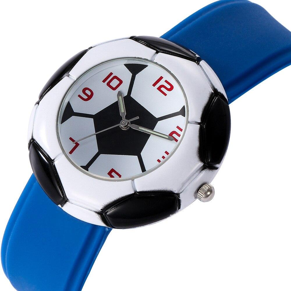 Fashion Mens Watches Top Brand Luxury Boys Student Wristwatch Quartz Clock Men 3D Football Sport Watch Enfant  Relogio Masculino