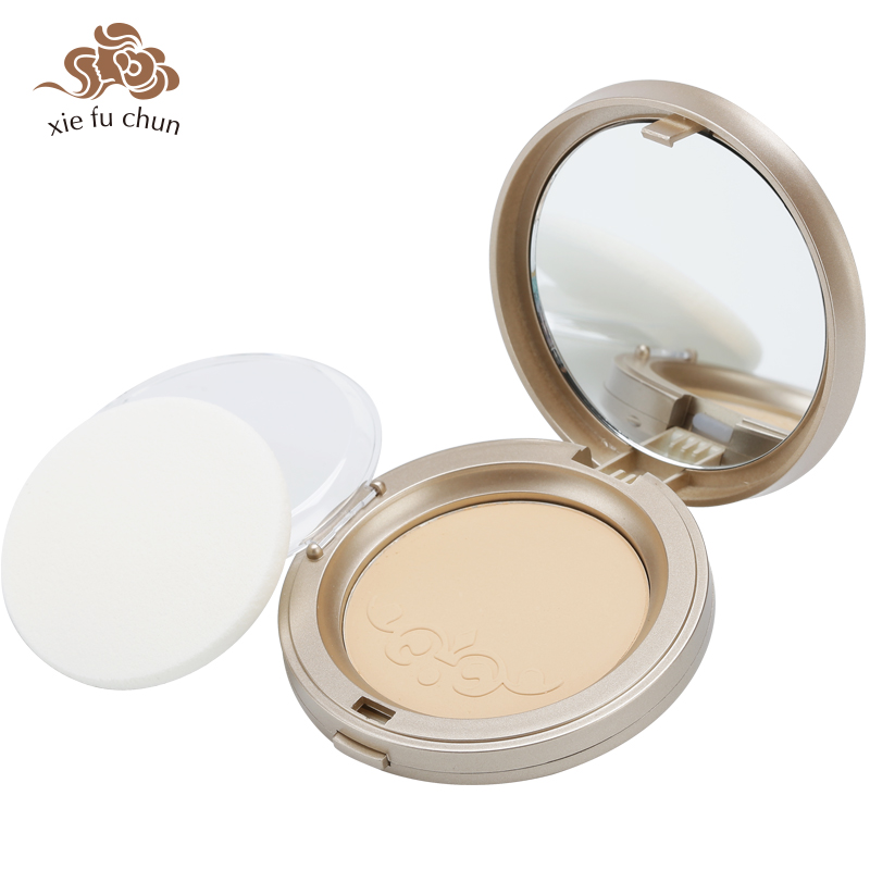 Xiefuchun Classic Face Pressed Powder Foundation Concealer Brighten Oil-control Base Matte Contour Waterproof Loose Powder XFC17