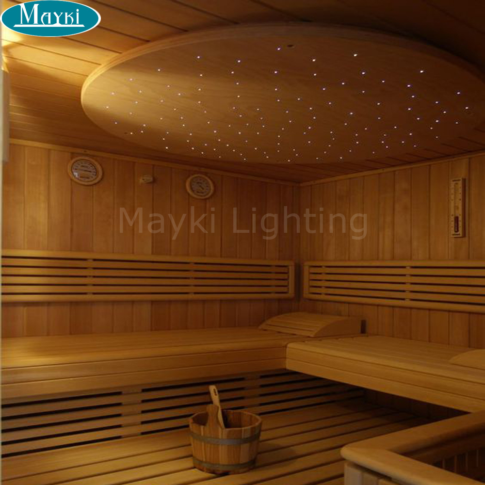 Sauna Led Us 248 4 31 Off Maykit Starry Sky Ceiling Sauna Led Star Lights Using 1 5mm Black Pvc Cover Fiber Optical Cables Suitable For Any Light Engine In