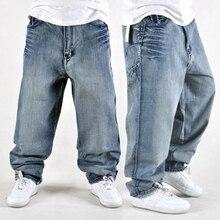 Свободные джинсы в стиле хип-хоп, Мужские штаны для скейтборда в стиле хип-хоп
