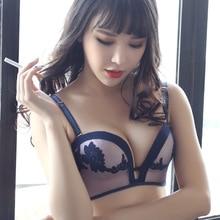 Europe Hot Sale Seamless Women Underwear Set Sexy Bra Embroidery One Piece Comfortable Bra Sexy Lingerie Set Push Up Bra Sets