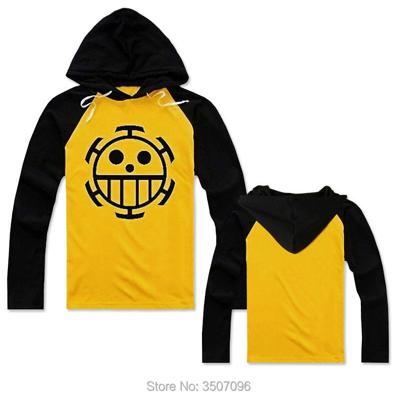 Anime One Piece Trafalgar Law Cosplay Costume Unisex Women Hooded Tee Shirts Sweatshirt Hoodie T-Shirt Tops Drop Shipping