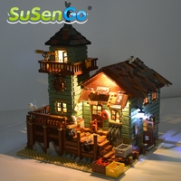 SenSuGo Led Light Kit Only Light Set For 16050 Old Fishing Store Building Model Block 21310