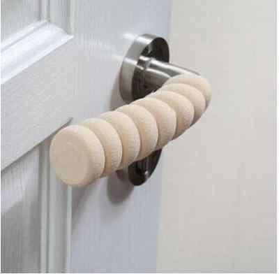 Bebé niño seguridad suministros/habitación Puerta de casos espiral anti-colisión de la manija de seguridad para puerta de manga protectora