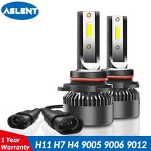 Aslent New Super mini 2pcs H4 LED 9005 HB3 9006 HB4 H7 H11 H8 H1 Auto Lamp Car Headlight Bulb 72W 8000LM 6000K Styling light