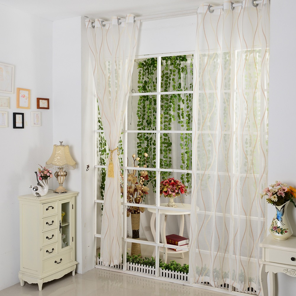 Room Alarm Picture More Detailed Picture About Tulle Window Curtain Fabric Jacquard Yellow