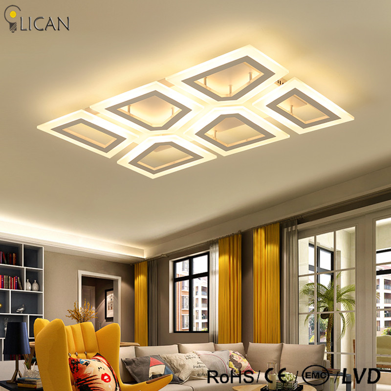 LICAN LED Ceiling lights rectangle surface mounted home deco acrylic home lighting Ceiling lamp living room bedroom 110V 220V deco home вешалка