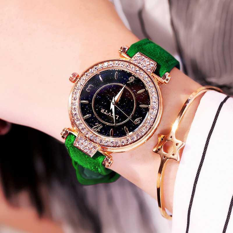 Luxury Leather Watches Women Creative Fashion Quartz Watches For Reloj Mujer 2019 Ladies Wrist Watch relogio feminino zegarek in Women 39 s Watches from Watches