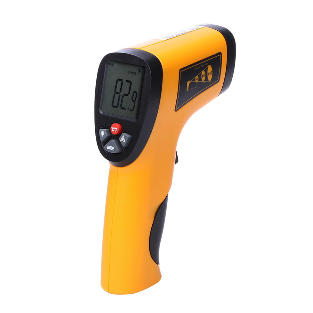 Digital Infrared Thermometer LCD Display Non-Contact IR Handheld Temperature Thermometer Laser Measurement Device