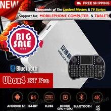 Débloquer Tech TV Boîte ubox ubox4 ubox 3 S900 Pro Bluetooth 4 K 16G Smart TV Récepteur Media Player Android 5.1 IPTV Coréen malaisie