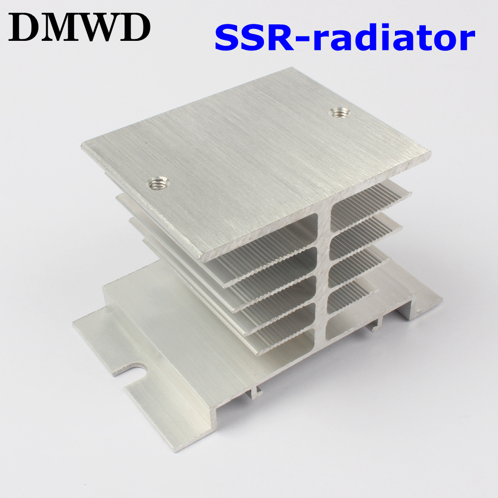1pcs Free shipping SSR soild state relay radiator radiator fin  other spare parts mini normally open single phase solid state relay ssr mgr 1 d48120 120a control dc ac 24 480v