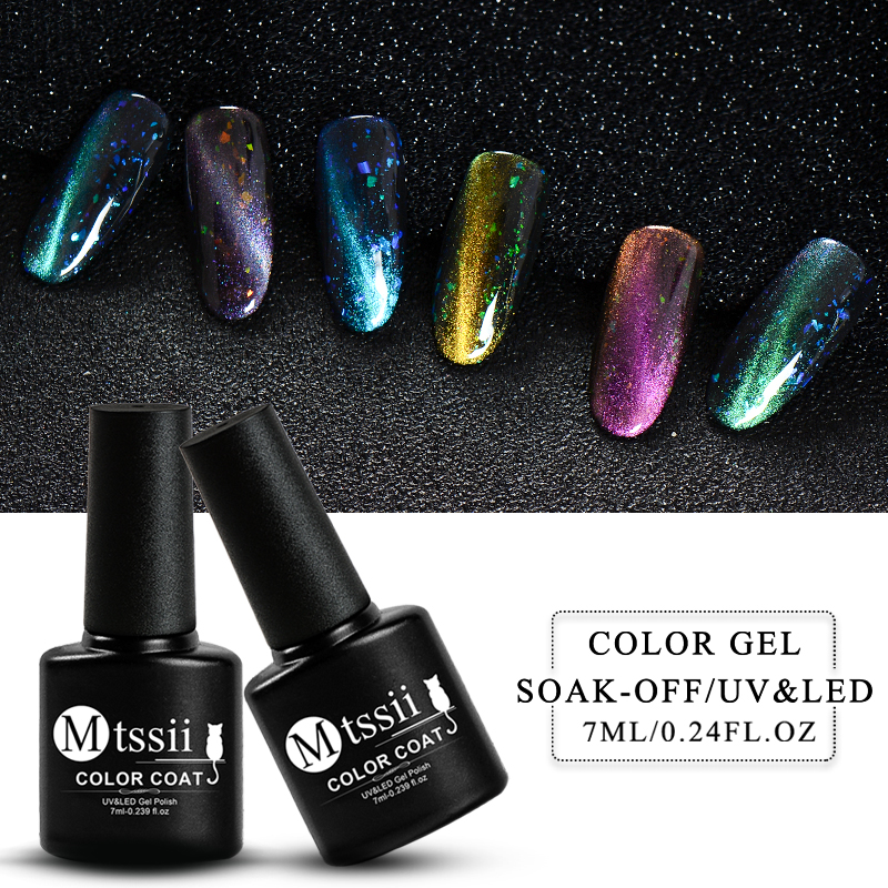 Gelaxy Gel Nail Polish: Mtssii 7ml Laser Cat Eye Nail Gel Polish Glitter Gel Nail
