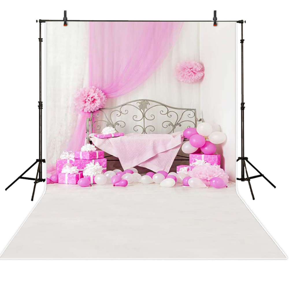 Hot Baby Newborn Photography Backdrops Vinyl Backdrops For Photography Pink Backgrounds For Photo Studio Fond Photographie fond studio photography backdrop prop white wooden door pink petal vinyl photo backgrounds for photo studio for wedding children