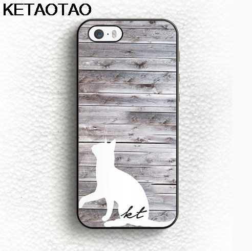 KETAOTAO Animale Monogram Gatto Protettiva Phone Cases for iPhone 4S 5S 6S 7 8 Plus X for Samsung Case Soft TPU Rubber Silicone