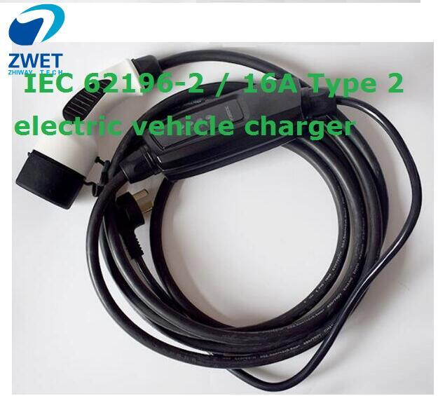 ZWET IEC 62196 standard Type 2 NEW ELECTRIC CAR CHARGER EVSE LEVEL 1 OEM  IEC 62196-2 / 16A Type 2 electric vehicle charger